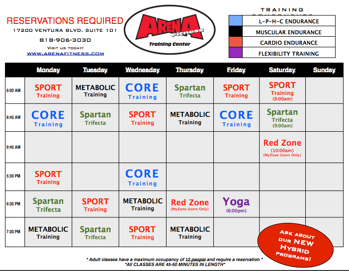 this is an image of group training in encino schedule